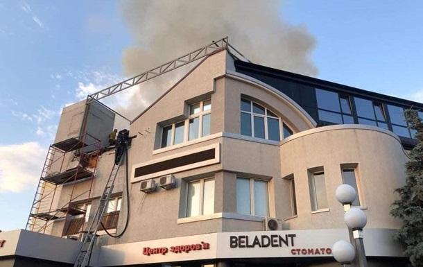 Під Києвом загорівся медичний центр