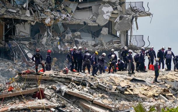 Число загиблих внаслідок обвалення будинку в Маямі збільшилося