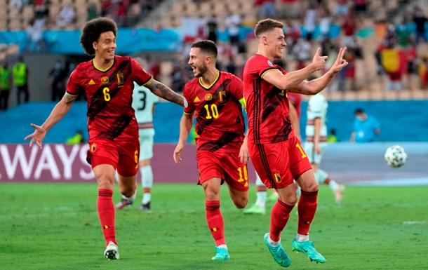 Гол Азара у ворота Португалії вивів Бельгію в чвертьфінал Євро-2020