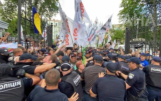 Сутички ФОПів з поліцією продовжилися під ОП