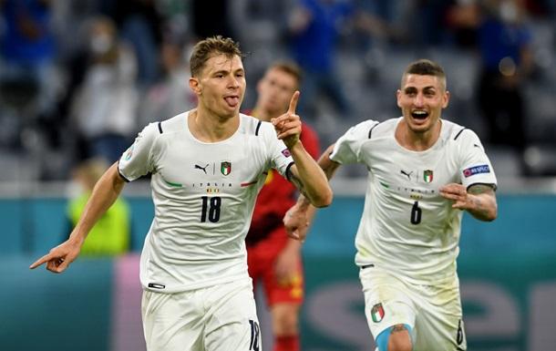 Италия вышла в полуфинал Евро-2020, обыграв Бельгию