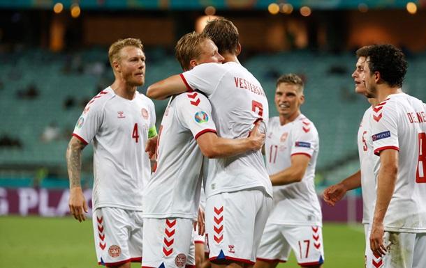 Данія в напруженому матчі обіграла Чехію і вийшла в півфінал Євро-2020