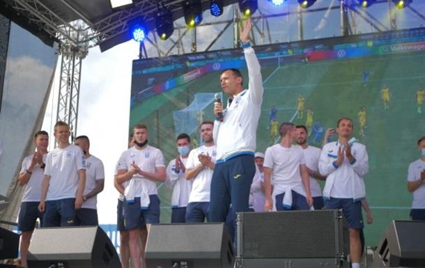 Збірна України повернулася до Києва з Євро-2020