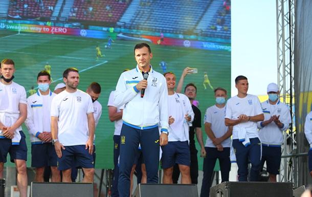 Епіцентр та вболівальники фантастично зустріли футбольну збірну в Борисполі