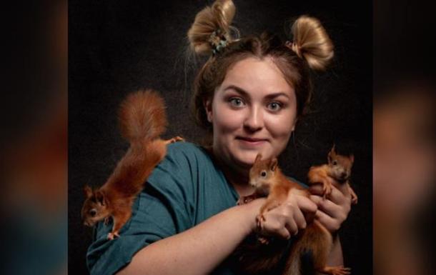 Ветеринар сделала профессиональную фотосессию, чтобы пристроить бельчат