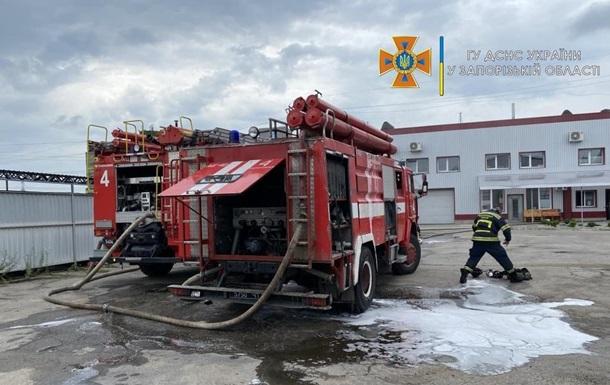 Во время пожара в Запорожье пострадали люди