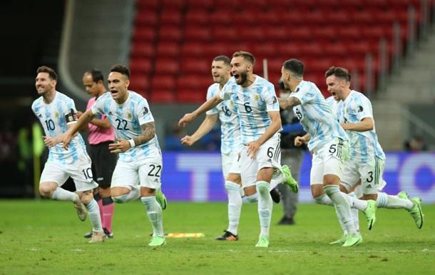 Кубок Америки: Аргентина в серии пенальти обыграла Колумбию и пробилась в финал турнира