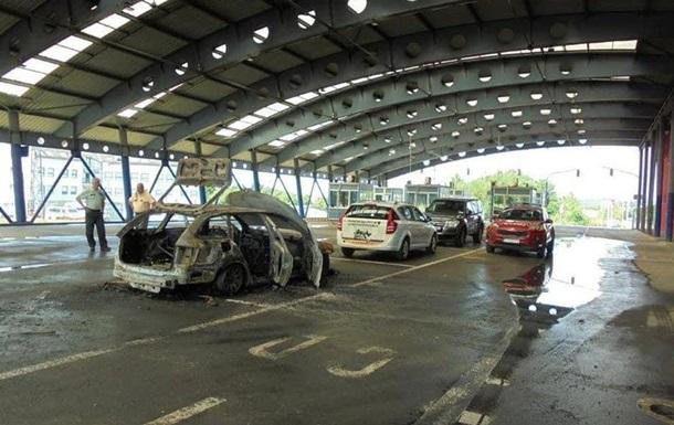 На словацкой границе чех поджег авто и пытался сбежать в Украину