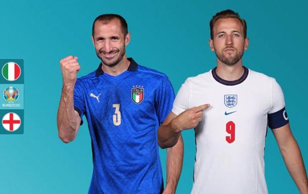 Италия - Англия. Онлайн-трансляция финала Евро-2020