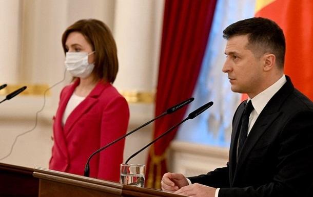 Зеленський обговорив із Санду євроінтеграцію