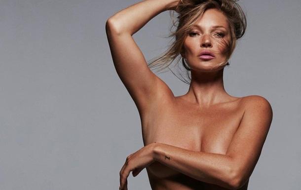 Кейт Мосс снялась топлес для бренда Ким Кардашьян