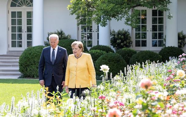 Меркель і Байден. Спір про Україну, фронт проти РФ