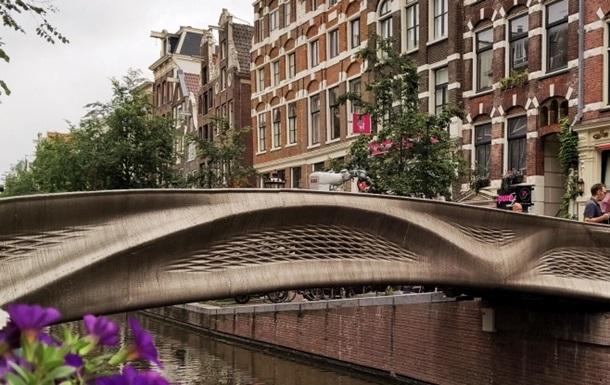 У Нідерландах відкрили сталевий міст, надрукований на 3D-принтері