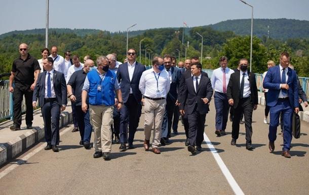 Зеленський відвідав лінію зіткнення з Абхазією