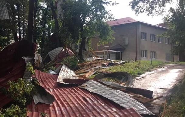 На Львовщине ураган вырывал деревья с корнями