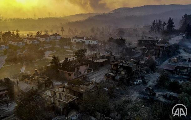 Лесные пожары в Турции. Фоторепортаж