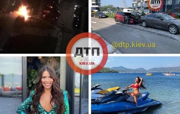 В Киеве ночью сожгли автомобиль блогера