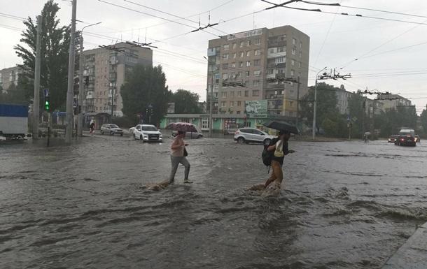 Сєвєродонецьк затопило зливою