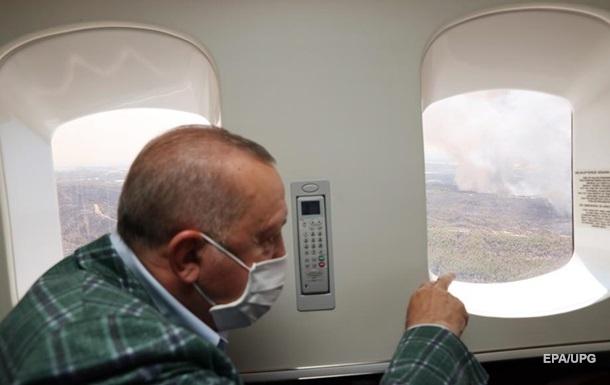 Ердоган назвав можливу причину лісових пожеж