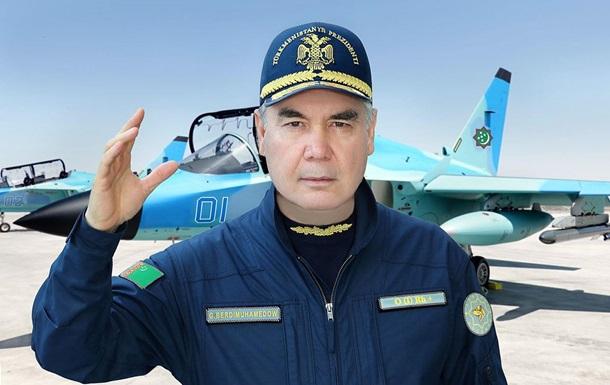 Президент Туркменістану випробував військовий літак