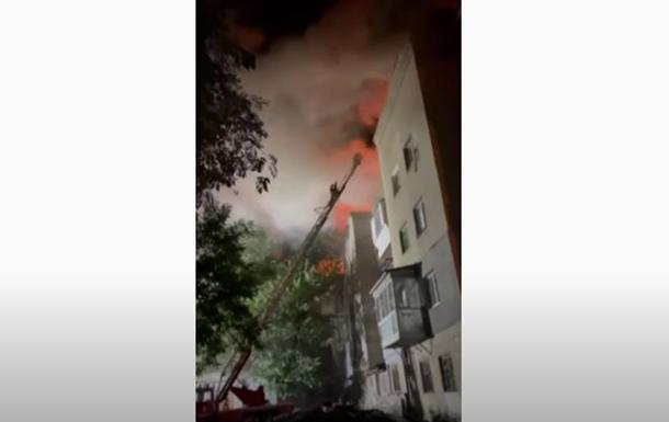В Запорожье загорелась многоэтажка