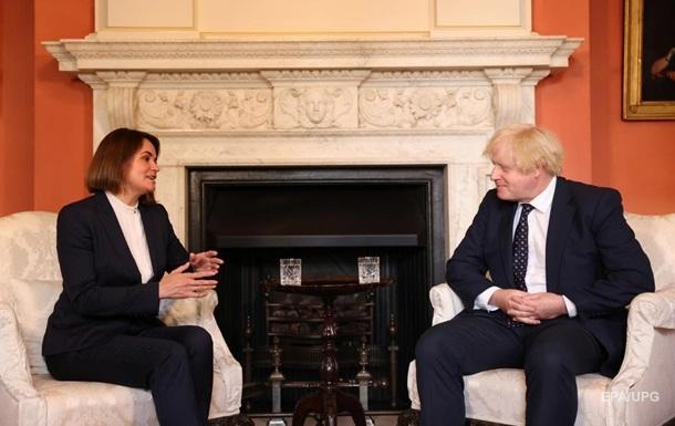 Джонсон провел переговоры с Тихановской в Лондоне