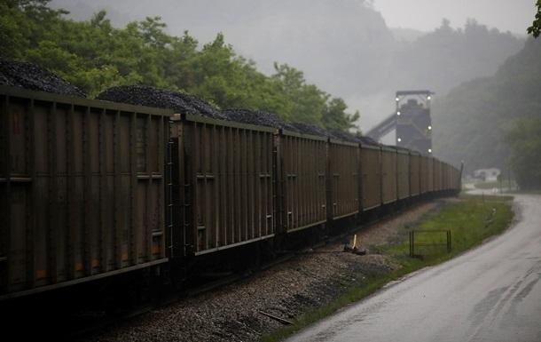 Запаси вугілля на ТЕС впали на третину за місяць