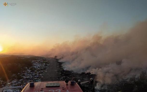 На Житомирщині сталася пожежа на звалищі