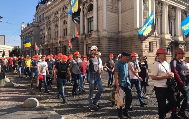 Долги по зарплате: во Львове митинговали шахтеры