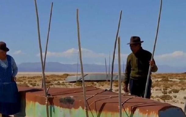 У Болівії зникло гігантське озеро