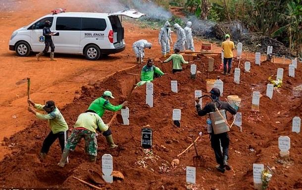 В Індонезії від COVID-19 померли вже 100 тисяч осіб
