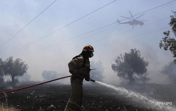 В Греции лесные пожары добрались до Древней Олимпии