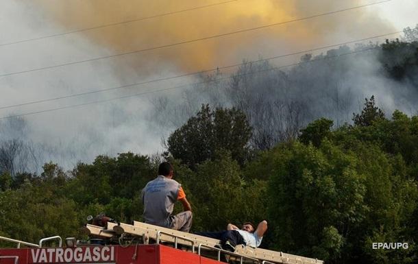 Лісова пожежа спалахнула в Чорногорії