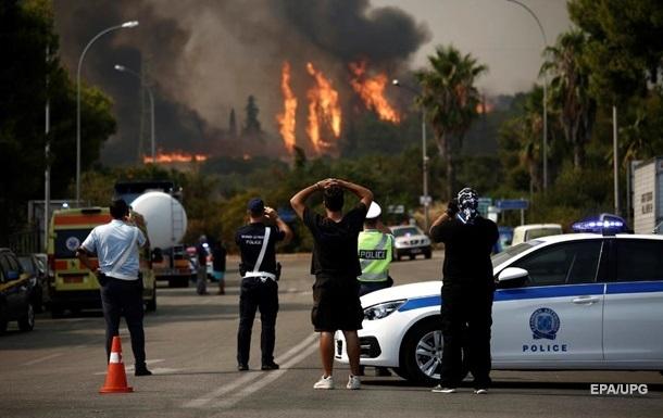 У Греції за кілька днів спалахнули майже 600 пожеж