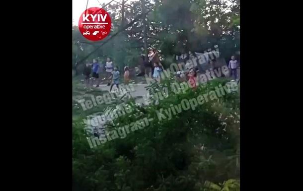 У Києві діти-роми зупинили поїзд і закидали його камінням