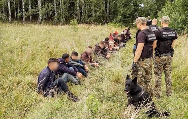 В Польше пограничники задержали 349 нелегальных мигрантов