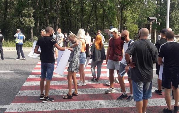 В Полтавской области протестующие перекрыли трассу