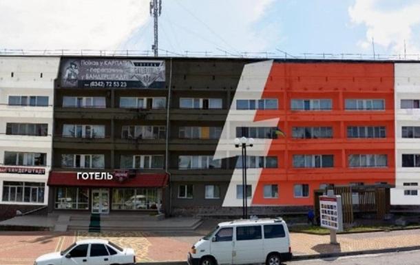 Нагадує  зіг . У мережі скандал через фасад готелю в Івано-Франківську