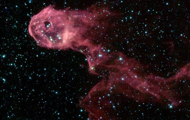 NASA зафіксувала в космосі галактику, схожу на хобот слона