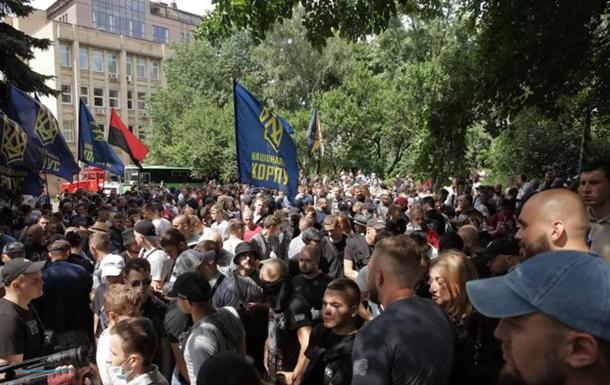 Нацкорпус анонсував продовження протестних акцій біля ОПУ
