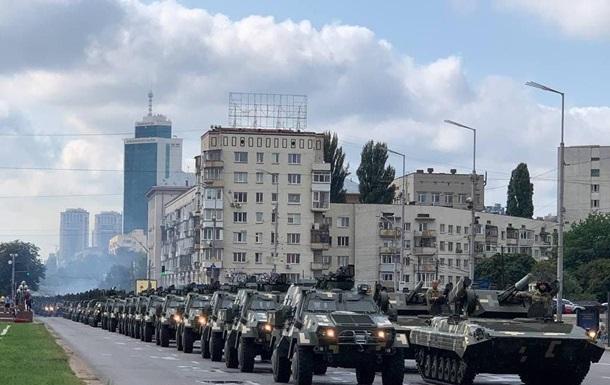 У Києві йде репетиція військового параду