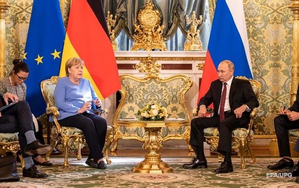 У Москві проходить зустріч Путіна з Меркель