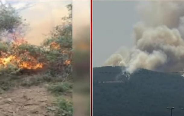 Біля Стамбула на острові горить ліс