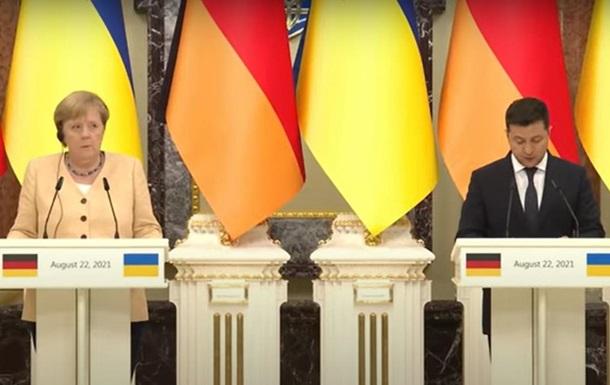 Зеленський і Меркель обговорили ПП-2 і Донбас