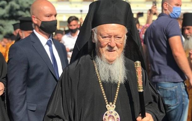 Вселенский патриарх покинул Украину