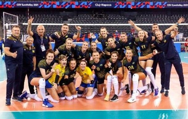 Українські волейболістки із третього місця вийшли в плей-оф ЧЄ-2021