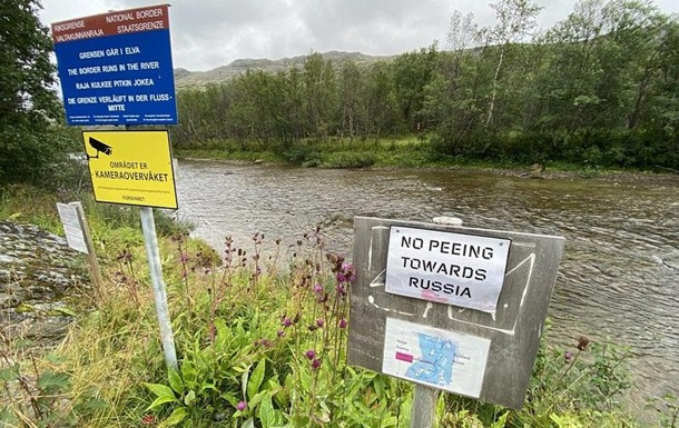 На норвежской границе установили знак, запрещающий мочиться в сторону РФ
