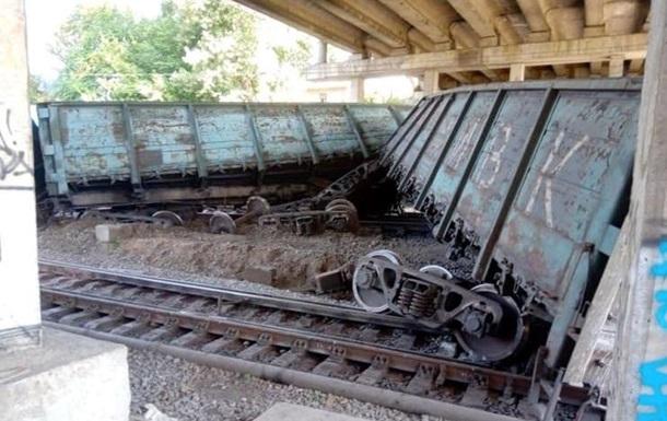 Появилось видео с места аварии поезда в Запорожье