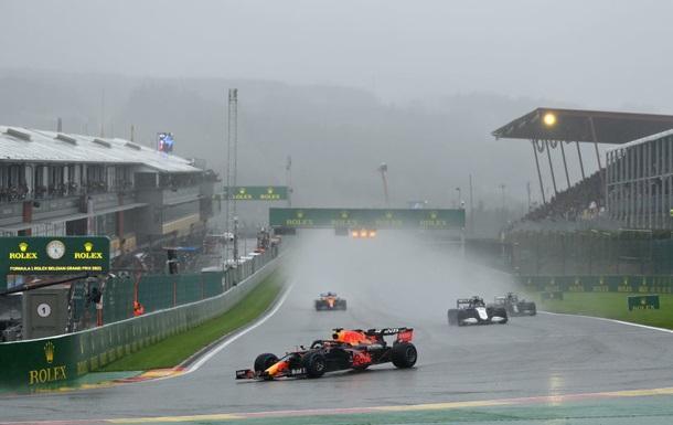 Гран-прі Бельгії Формули-1 не відбулося через негоду, але виграв Ферстаппен