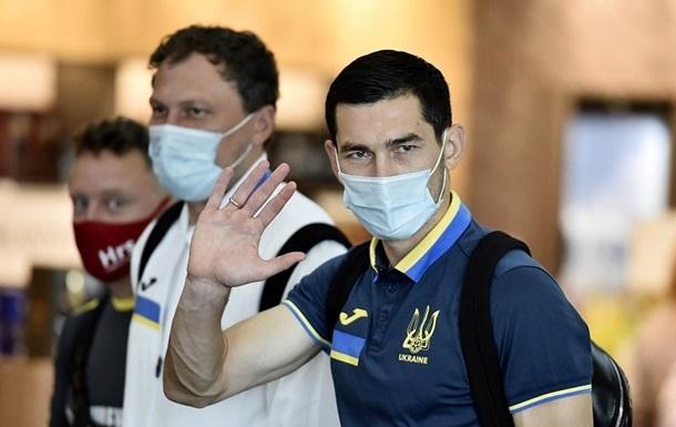 Сборная Украины прилетела в Казахстан